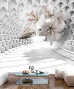 Fotobehang - Flowers in the Tunnel-1