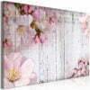 Schilderij - Flowers on Boards (1 Part) Wide-1