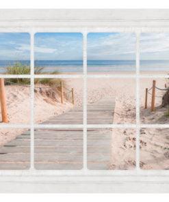 Fotobehang - Window & beach-2