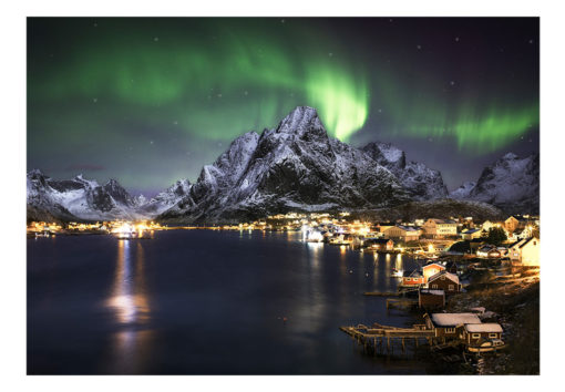 Fotobehang - Aurora borealis-2