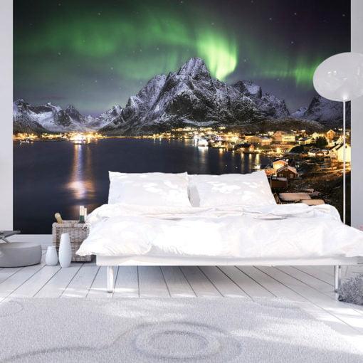 Fotobehang - Aurora borealis-1