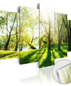 Afbeelding op acrylglas - Green Glade [Glass]-1