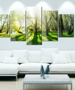 Afbeelding op acrylglas - Green Glade [Glass]-2