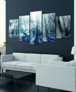 Afbeelding op acrylglas - Blue Glade [Glass]-2