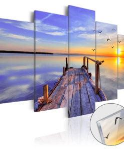 Afbeelding op acrylglas - Summer Harbor [Glass]-1