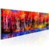 Schilderij - Colorful Autumn Trees-1