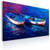 Schilderij - Abandoned Boats-1