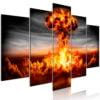 Schilderij - Explosion (5 Parts) Wide-1
