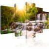 Schilderij - Forest Waterfall-1