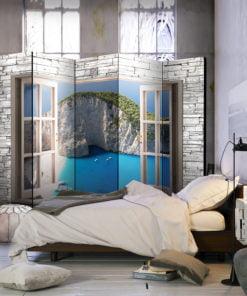 Vouwscherm - Azure Paradise II [Room Dividers]-2