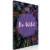Schilderij - Be Wild (1 Part) Vertical-1