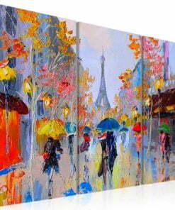 Handgeschilderd schilderij - Rainy Paris-1
