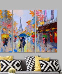 Handgeschilderd schilderij - Rainy Paris-2
