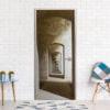 Fotobehang voor deuren - Mysterious Corridor-1