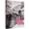 Schilderij - Woman in Venice (1 Part) Vertical-1