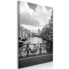 Schilderij - Bikes On Bridge (1 Part) Vertical-1