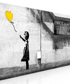 Schilderij - There is Always Hope (1 Part) Narrow Yellow-1