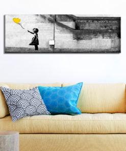 Schilderij - There is Always Hope (1 Part) Narrow Yellow-2