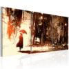 Schilderij - City in the Rain-1