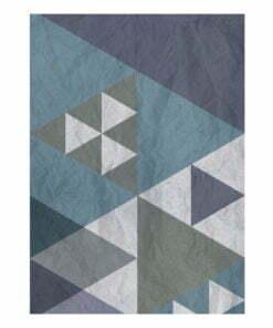 Fotobehang - Blue patchwork-2