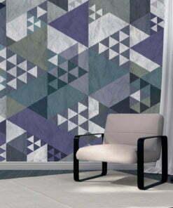 Fotobehang - Blue patchwork-1