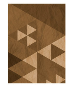 Fotobehang - Brown patchwork-2
