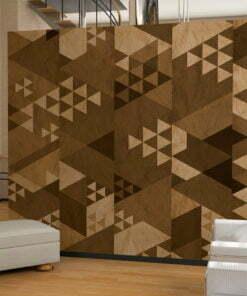 Fotobehang - Brown patchwork-1