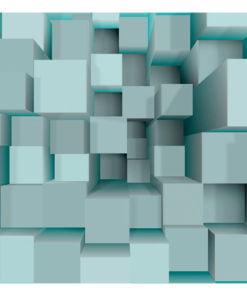 Fotobehang - Blue puzzle-2