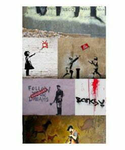 Fotobehang - Banksy - a collage-2