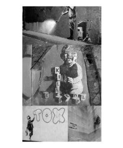 Fotobehang - Banksy - grey collage-2