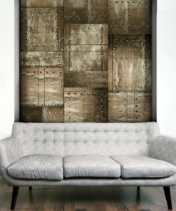 Fotobehang - Brass mosaic-1