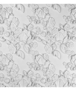 Fotobehang - White ornament: roses-2