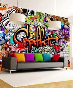 Fotobehang - Colorful Graffiti-1