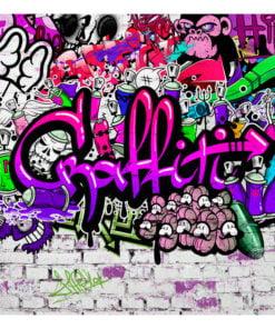 Fotobehang - Purple Graffiti-2