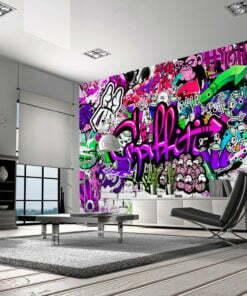 Fotobehang - Purple Graffiti-1