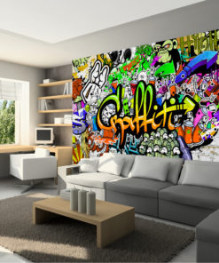 Fotobehang - Graffiti on the Wall-1