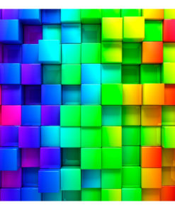 Fotobehang - Colourful Cubes-2