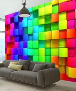 Fotobehang - Colourful Cubes-1