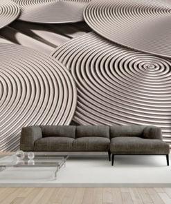 Fotobehang - Copper Spirals-1