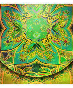 Fotobehang - Mandala: Emerald Fantasy-2