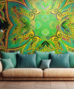 Fotobehang - Mandala: Emerald Fantasy-1