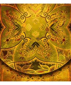 Fotobehang - Mandala: Golden Poem-2