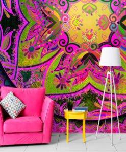 Fotobehang - Mandala: Pink Expression-1