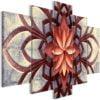 Schilderij - Fan (5 Parts) Wide-1