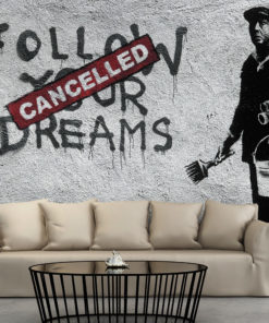 Fotobehang - Dreams Cancelled (Banksy)-1