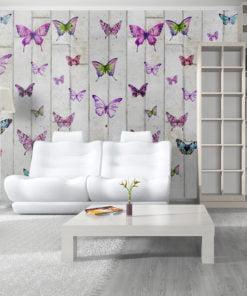Fotobehang - Butterflies and Concrete-1