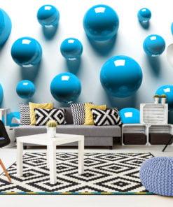 Fotobehang - Blue Balls-1