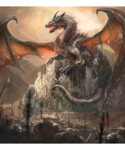 Fotobehang - Dragon castle-2