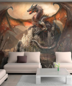 Fotobehang - Dragon castle-1