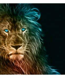Fotobehang - Abstract lion-2